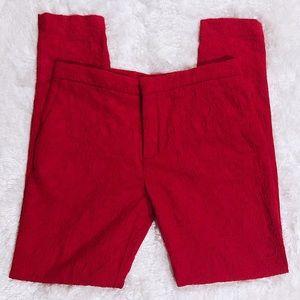 Zara Woman Red Lace Pants